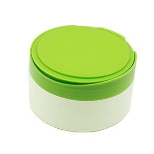 1pcs Plastique Vert vide Portable recharge Baby Skin Care After-bath Poudre Poudre Coque Puff de talc Maquillage de stockage de support à nourriture Dispensor avec tamis et éponge Puff