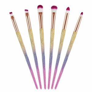 6pcs pinceau de maquillage pour les yeux, Kit de pinceaux fard à paupières 3D Essential Essentials de Segbeauty Professional pour le mélange des plis, outil de cosmétique