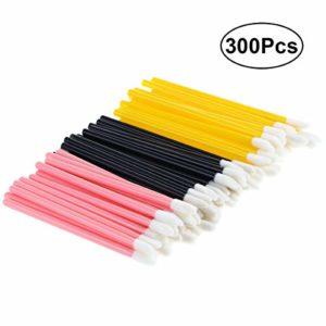Aestm Lot de 300 pinceaux à lèvres jetables en microfibre et sans peluches