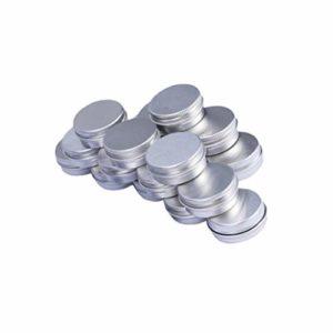 Beaupretty 24 Pcs En Aluminium Pot Cosmétique Avec Couvercle Lotion Cosmétique Conteneurs Vide Crème Boîte Pour Slime Échantillon Gommage Lotions Maquillage Cosmétique Beurres
