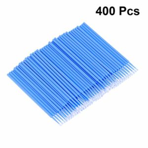 Beaupretty 400Pcs Micro Brosses Jetables Mascara Pinceau de Maquillage Coton-Tige Applicateurs Tube pour Extension de Cils Élimination de La Colle Cils Outils de Greffe (Bleu)