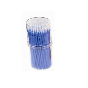 Brosse micro flexible flexible jetable de 100 morceaux appropriée flexible pour le travail dentaire et l'application de greffe d'extension de cil de maquillage