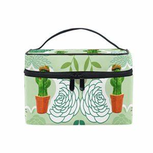 Cactus Vert Art Sac Cosmétique Organisateur Fermeture à Glissière Sacs Trousse de Maquillage Pochette Cas de Toilette pour Voyage Les Femmes Filles