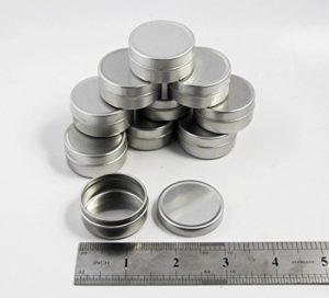 Chengyida 200pièces vide Cosmétique Pots Baume à lèvres Pot Argent Boîte Boîtes en aluminium 10ml