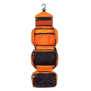 CYBERNOVA Trousse de Toilette Sac cosmétique Voyage Suspendre Compartiments pour Rangement des Affaires de Toilette / soins personnels bourse Hygiène (orange)
