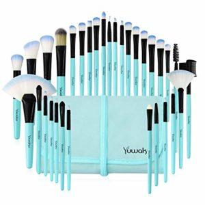 Daxstar 32 Pcs Pinceaux De Maquillage, Complet Soyeux Fibres Synthétiques Souples Maquillage Brush Set Pour Fond De Teint, Blush, Correcteurs Pour Les Yeux (Bleu)