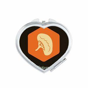DIYthinker Corps Organes internes de la vessie Coeur Miroir Compact Maquillage Portable Mignon Cadeau Miroirs de Poche à la Main Multicolor