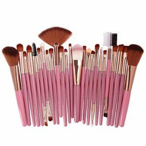 Edary Pinceau De Maquillage Ensemble De 25 Pinceaux De Paupières Ensemble De Maquillage Des Yeux Brosse Beauté Maquillage Outils De Maquillage Sourcil, Eyelinerg (Rose)