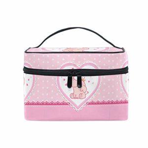 Éléphant Bébé Rose Trousse Sac de Maquillage Toilette Cas Voyage Sac Organisateur Cosmétique Boîtes pour Les Femmes Filles