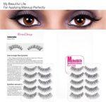 EmaxDesign 10 paires de Faux Cils, Multipack Natural 3D Cils Faux – Eyelashes Mode Extension Pour Maquillage