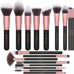 EmaxDesign Pinceaux de maquillage 18 pièces Pinceaux Maquillage Professionnel pour liquide Poudre crème Fusion de fond de teint Concealer yeux visage Pinceaux Kit (Or Rose)