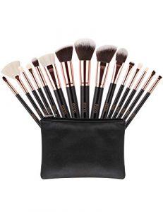 Eono by Amazon – Pinceaux de Maquillage Professionnel 15Pcs & Trousse Pinceaux Maquillage avec Box, Cadeau Parfait