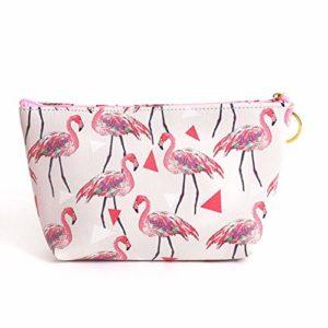 Eudola Trousses à Maquillage, Mignon Flamingo Sac Cosmétique Portable Trousse de Toilette de Voyage Rangement Organisateur Zipper Sac