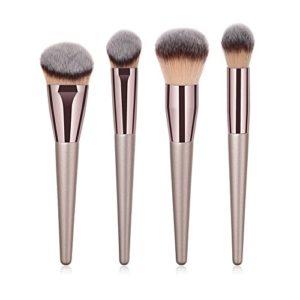 Fansi 4PCS/Set Kit de Pinceau de Maquillage Professionnel Outils de beauté Champagne Gold Fond de Teint Pinceau Ombre à Paupières