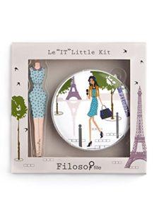 Filosofille Mini Kit de Accessoire Beauté 2 Pièces Épilation Motif Sofie à Paris