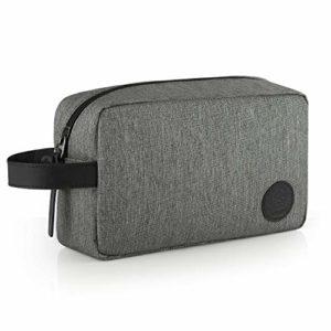 GAGAKU Homme Trousse de Toilette Imperméable Dopp Kit Multifonctions Trousses à Maquillage de Voyage – Gris