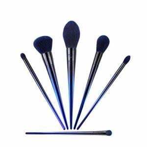 GYYARSX Pinceaux De Maquillage Cosmétique Pinceaux Fibre Synthétique Soin du Visage Poudre Fard À Paupières Blush Kit De Pinceaux De Maquillage, Bleu, 6 Pièces (Color : Blue, Size : 6 Pcs)