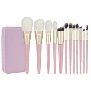 GYYARSX Pinceaux De Maquillage Makeup Brushes Cil Fard À Paupières Blush Pinceau À Lèvres Paquet De Brosse Pratique Verticale, 12pcs (Color : C, Size : 12 Pcs)