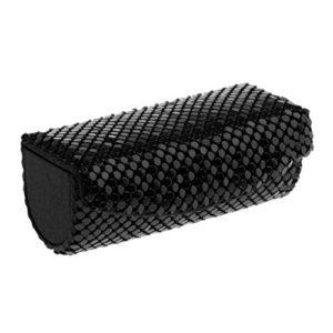 Homyl Trousse de Toilette Etui Cosmétique à Rangement Rouge à Lèvres en Cuir PU avec Fermeture à Bouton – 9×3.5×3.5cm – Noir