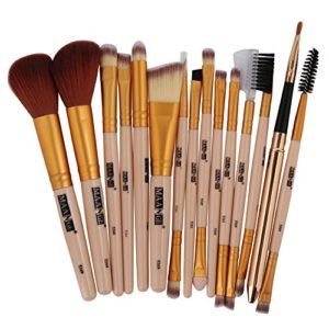 IFOUNDYOU 15Pcs Maquillage Base Sourcil Eyeliner Fard à Joues CosméTique Cache-Cernes Brosses Bw