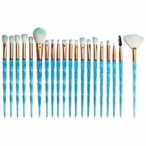 Lanso fiable Lot de 20 pinceaux de maquillage Transparent Flash Diamond Beauty Brush