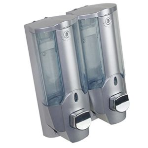 MagiDeal 350ml Double Tête Savon Salle De Bains Shampooing Lotion Holder Pompe Action Dispenser
