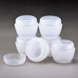 MYLL 50ml Pot de Creme Vide (6 Pièces), Contenant Cosmétique, Flacon pour Maquillage – Sans BPA (50g, Transparent)