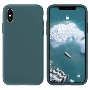 Oihxse Silicone TPU Gommage Case Compatible pour Huawei Mate 10 Coque Ultra Fine Souple Protection Housse Mignon Couleurs Bumper Étui Anti-Rayures Cover(Bleu foncé)