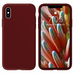 Oihxse Silicone TPU Gommage Case Compatible pour Huawei Mate 10 Coque Ultra Fine Souple Protection Housse Mignon Couleurs Bumper Étui Anti-Rayures Cover(Rouge foncé)