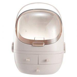Organiseur portable de maquillage pour bijoux, maquillage, cosmétique, boîte de rangement pour ongles gel organiseur de rangement tiroir