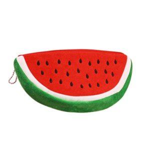 Pasteque Mignon Forme Trousses Pen Pouch Maquillage Cosmetic Purse Sac Zipper Pouch Coin Rouge 13.5cm x 8cm