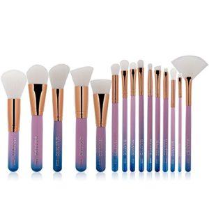 Pinceau de maquillage set Pinceau De Maquillage Gradient Professionnel Outils Maquillage Trousse De Toilette Nylon Pinceau Cosmétique Maquillage for Les Yeux 15 En 1 pinceau de maquillage ensemble pro