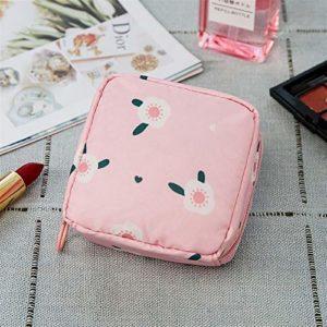 Portable Nouveau Simple Mode Sac cosmétique Voyage cosmétiques Rouge à lèvres sac de rangement de bijoux sac Pour le stockage (Color : Pink flowers)