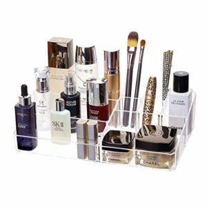 Rangements pour Produits CosméTiques,Acrylique Couches Maquillage Organisateur RéGlable Organisateur De Maquillage Tiroir Utilisé pour Le Rouge à LèVres Pinceau Produit De Soin De La Peau