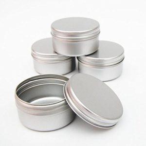 récipients en aluminium 100x (50ml) pour nail art Maquillage Cosmétique Voyage crèmes baumes à lèvres Tatouage