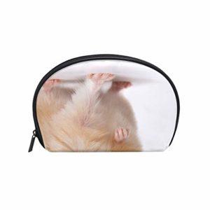 Tizorax Trousse à Maquillage pour Femme Motif Hamster