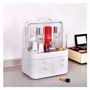 Trousse à cosmétiques transparente, tiroir extra-large, produit de soin de la peau, trousse à cosmétiques coréenne, rangement pour trousses à cosmétiques-White