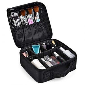 Trousse de Maquillage Voyage Makeup Cas Professionnel Sac Organiseur Rangement Cosmétique Boîtes Étanche Portable Makeup Case,avec des Compartiments Détachable