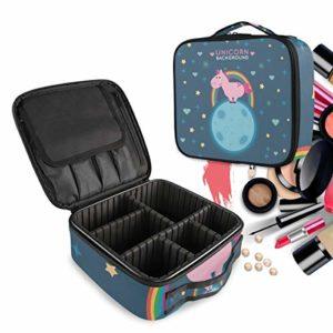 Uincorn Animal Trousse Sac Cosmétique Organisateur de Maquillage Pochette Sacs Cas avec Cloisons Amovibles pour Voyage Les Femmes Filles