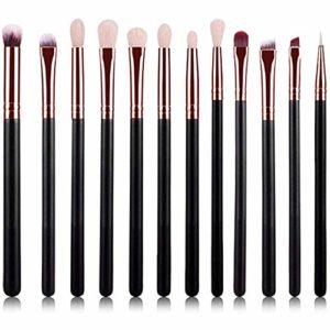 WEHQ Brosses De Maquillage pour Les Yeux, Les Pinceaux De Maquillage 12pcs Pinceaux Kits Souple pour Fard À Paupières Blending Essential Eye Concealer Outils Cosmétiques Femmes