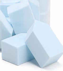 15pcs Diamant Puffs Éponge Puffs Hydrophiles Plus En Plus Gros Maquillage Beauté ToolsPuff Lisse (Color : Sky Blue)
