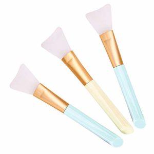 3 PCS Pinceau Masque Visage, Masque facial Brosse Silicone Pinceau Beauté Outil pour d'Application Facial Boue