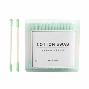 Angshi économique 200 pièces coton-tige double tête coton-tiges en coton pour nettoyer les oreilles en coton démaquillant Outil adapté pour les soins personnels à la maison et les cosmétiques