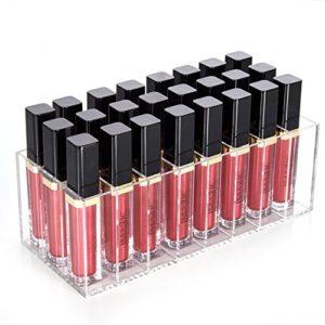 Bac de rangement pour maquillage HBlife en acrylique, avec 24emplacements pour rouge à lèvres liquides, gloss à lèvres