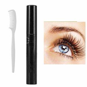 Chauffage électrique cil curleur Double côté long Curling Lasting Outil de maquillage avec un peigne-cils cils Maquillage des yeux Beauté