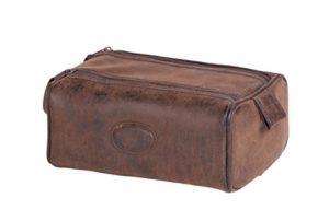 Danielle Montana articles de toilette en forme de boîte de zip double sac – Brown PU