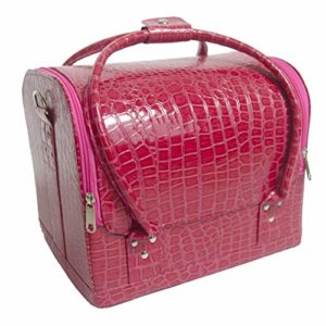 Doubleblack Vanity Case Boite Maquillage Beauty Case Coffret Grand pour Manucure Cosmetique Rose