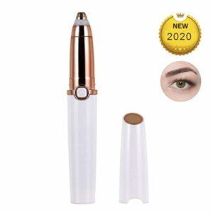 Épilateur de sourcils,tondeuse à sourcils électrique, épilateur indolore pour tondeuses à sourcils, rasoir portatif pour l'épilation des sourcils avec lumière,Blanc