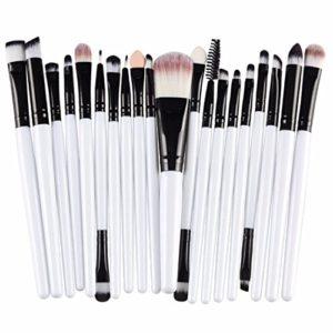 Fortan 20 pcs maquillage outils Brush Set de maquillage Trousse de toilette laine maquillage Brush Set