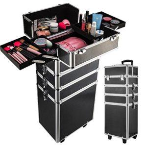 Generic P Case Vanity Beauté Beauté Extra Large Cosmétique Valise de Maquillage Chant Vanity Box Coiffure Etic Box Case Noir Couleur aléatoire